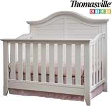 Thomasville Kids Southern Dunes Lifestyle 4-in-1 Convertible Crib, White, Easily Converts to Toddler Bed Day Bed or Full Bed, Three Position Adjustable Height Mattress (Mattress Not Included)