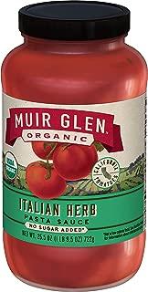 Muir Glen Organic Sauce, Italian Herb, 25.5-Ounce (Pack of 6 )
