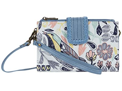 Sakroots Olympic Smartphone Crossbody (Multi Peace Birds) Handbags