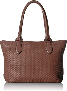 Cole Haan Bethany Woven Leather Zip Tote