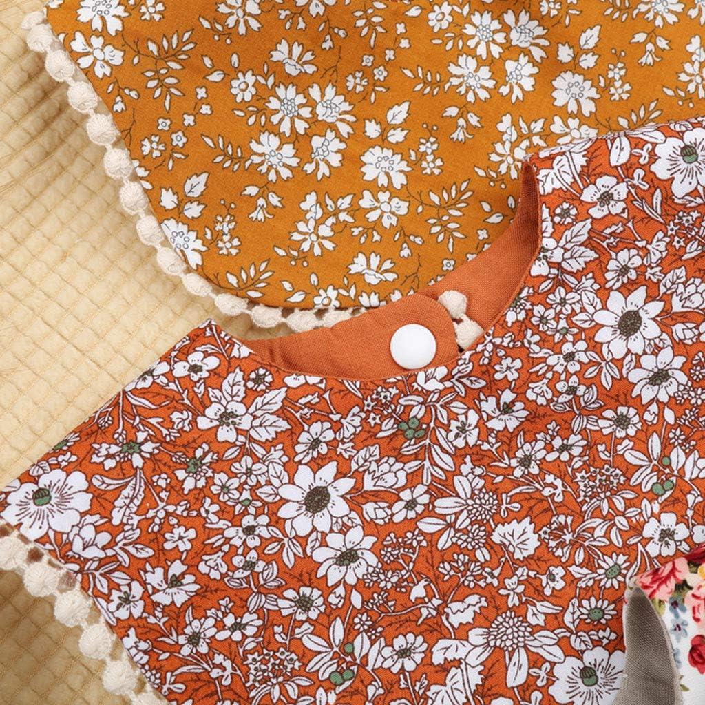YO-HAPPY Floral Vintage Baby Double-Side Cotton Bibs ...