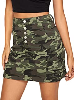 camo high waisted skirt