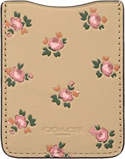 COACH - Phone Pocket Sticker with Floral Bloom Print