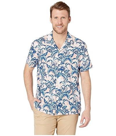 Nautica Tropical Linen Camp Shirt (Peach Glow) Men