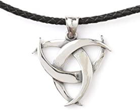 HAQUIL Viking Jewelry Stainless Steel Celtic Trinity Knot Necklace Viking Necklace for Men for Women