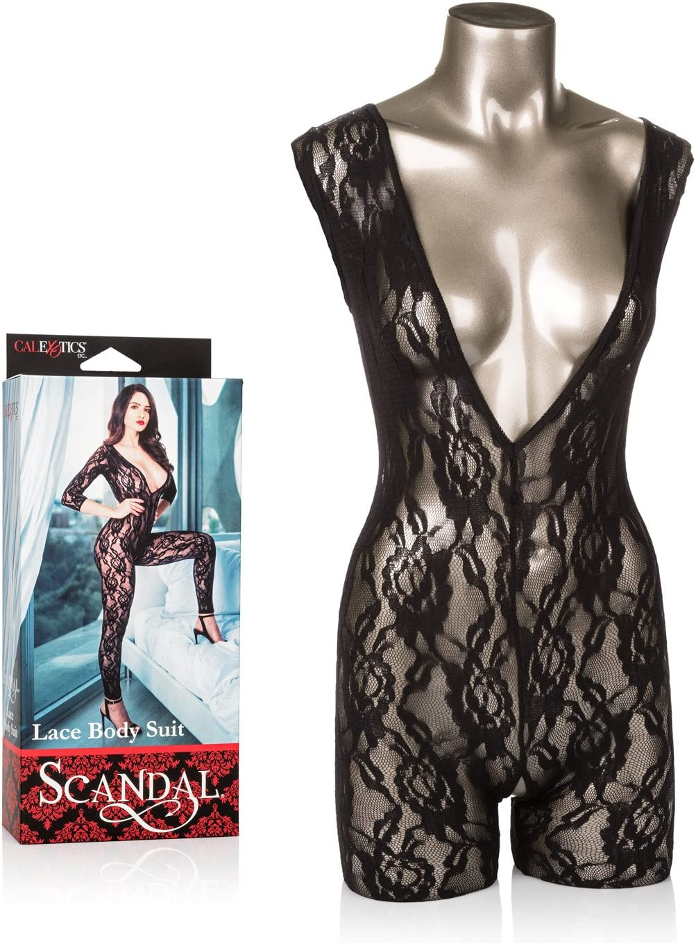 CalExotics Scandal Body Suit – Erotic BDSM Fetish Outfit for Couples – Fetish Role Playing Jumper - Black