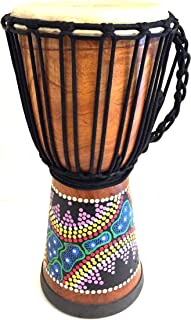 Djembe Drum African Percussion Hand Carved & Painted Bongo Congo Djembe Wood Drum, PROFESSIONAL QUALITY - JIVE FEDERAL (TM) BRAND