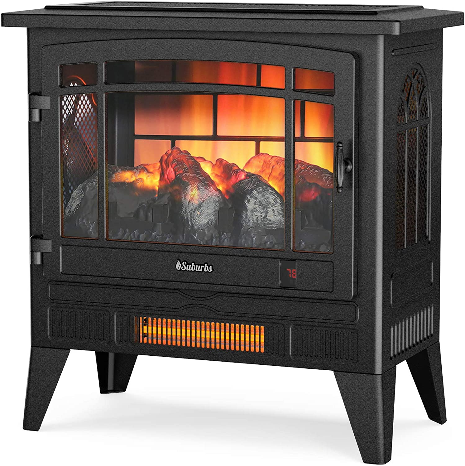 TURBRO Suburbs TS25 Electric Fireplace Heater Max 60% OFF Freesta Infrared - Large discharge sale