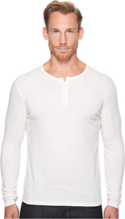 Lucky Brand - Long Sleeve Venice Burnout Henley