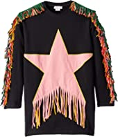 Stella McCartney Kids - Star Patch and Fringe Sweatshirt Dress (Toddler/Little Kids/Big Kids)