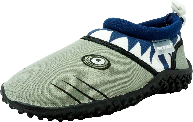 Fresko - Little 5 ☆ very popular New sales Boys Shark Navy Grey Aqua Water Shoe