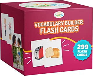 CreateFun Vocabulary Builder Flash Cards 6 Pack   299 Educational Photo Cards with Learning Games   Includes Emotions Go T...