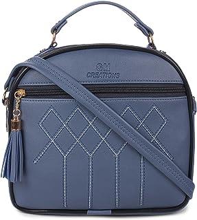 GM CREATIONS® Leatherette Formal Casual Stylish Shoulder Crossbody side Sling Handbag With Adjustable Strap For Women & Gi...
