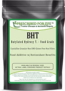 Prescribed for Life BHT - Butylated Hydroxy T. Crystalline Granular Powder - US Food Grade Anti-Oxidant, 1 kg