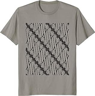 Batik Parang Rusak T-Shirt Indonesia Indonesian Java Tee