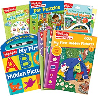 Highlights Preschool Activity Pack - My First Hidden Pictures, Stickers, Abc's, Mazes