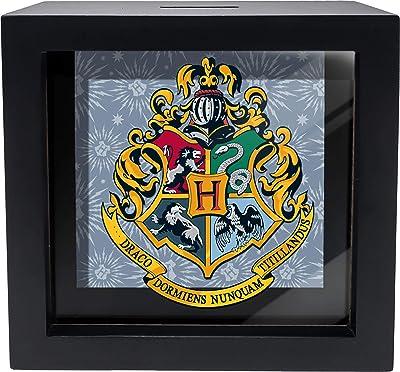 Spoontiques Hogwarts Crest Shadowbox Bank, Black