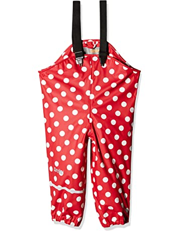 CareTec Kids Rain Pants Dungarees Mehrfarbig 9-12 Months Pompeian Red 337