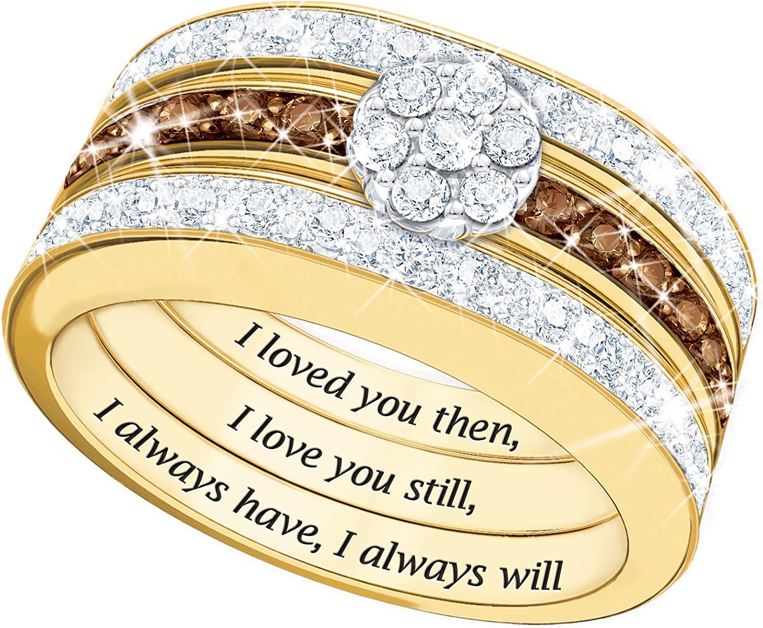 I Love You Always Diamond supreme Ring mart – Stacked Bands 1 Set