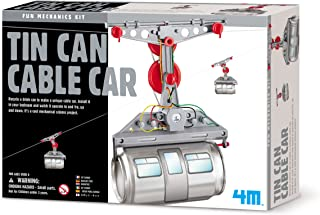 4M Tin Can Cable Car, DIY Mechanical Engineering - STEM Toys Science Gondola Educational Gift for Kids & Teens, Girls & Boys