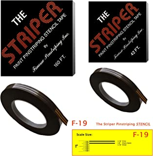 The Striper Paint Pinstriping Stencil Tape - Pinstripe Your Car/Truck   Striper: F-19   Results: 1/16