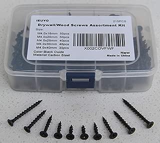 Carbon Steel 1022A Gray Phosphate IMScrews 100pcs #6x1-1//8 Flat Head Phillips Drywall Screws Fine Thread Sharp Point Wood Screw Assortment Kit
