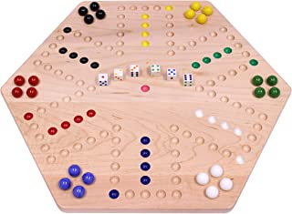 "AmishToyBox.com Maple-Wood Double-Sided Aggravation Marble Game Board, 20"" Wide"