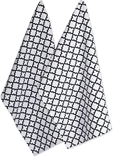 DII Cotton Lattice Dish Towels with Hanging Loop, 18 X 28