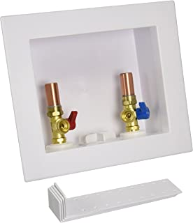 Oatey 38569 Quadtro Washing Machine Outlet Box Copper Sweat Tail Piece, 1/4