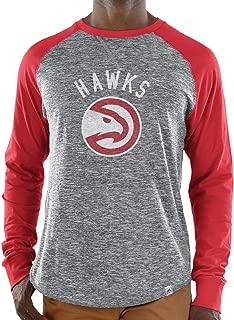 Majestic Atlanta Hawks NBA Men's National Exposure Heathered Long Sleeve T-Shirt