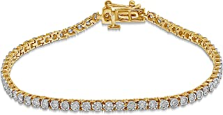 10K Gold 1 CT TW Diamond Tennis Bracelet