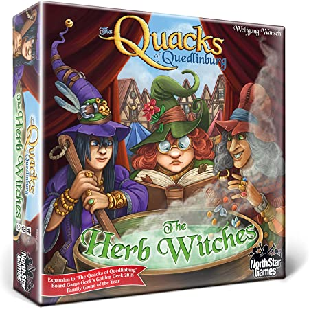 North Star Games The Quacks of Quedlinburg: The Herb Witches 拡張   Be The Best Quack Doctor in Town with More Potion-Creating Sessions!