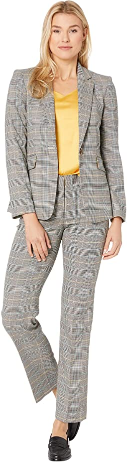 Mustard Grey Plaid