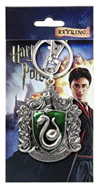 HARRY POTTER Slytherin School Crest Pewter Keychain