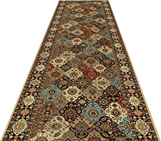 HAIZHEN- Cutable Runner Carpet Vintage Pattern Corridor Entrance Non-slip Soft Easy Clean Long Home Decor Area Rugs,16 Siz...