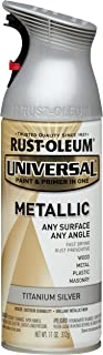 Rust-Oleum Available 245220 Universal All Surface Spray Paint, 11 oz, Metallic Titanium Silver