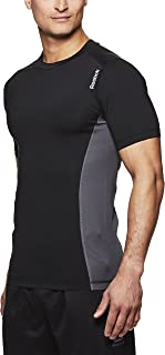 Men's Compression Workout T Shirt - Short Sleeve Mesh Gym & Training Activewear Top