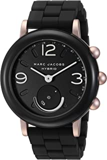 Marc Jacobs Women's 'Riley Hybrid' Quartz Stainless Steel and Rubber Smart Watch Color:Black (Model: MJT1006)
