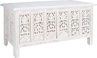 Rectangular Wooden Centre Table, Coffee Table Wood, Modern Wooden Coffee Table, Side Tables, Entryway Table, Living Room Side Table for Magazines, Books and Plants-36x18 Inch Antique White
