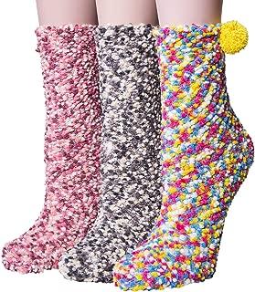 YSense 3 Pairs Womens Super Soft Fluffy Socks Winter Warm Fuzzy Home Slipper Socks