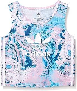 adidas Originals Girls' Big Marble Crop Tank Top