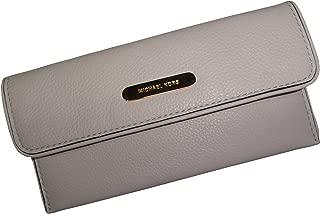 Women's Michael Kors Austin Flat Continental Leather Wallet Vanilla