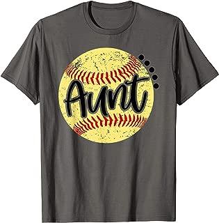 Womens Softball Aunt, Family, Softball Tshirt for Womens