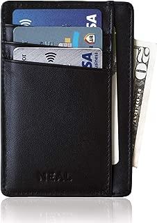 Slim Front Pocket Wallet Gift Set for Men, RFID Blocking, Top Grain Leather