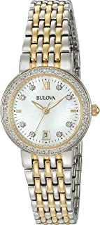 Women's Quartz Watch with Two-Tone-Stainless-Steel Strap, 14 (Model: 98R211)