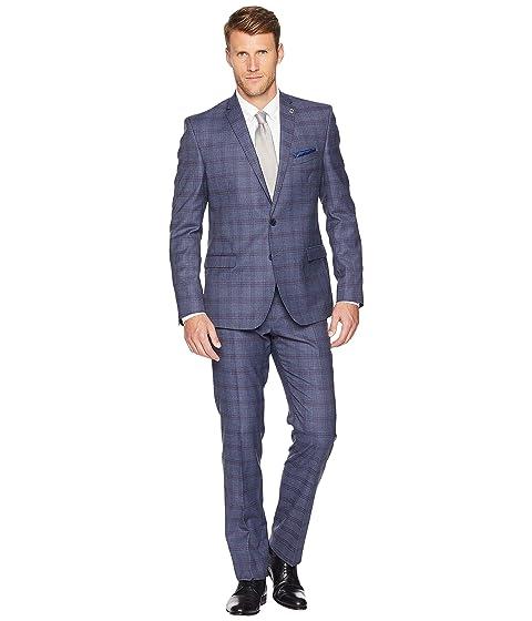 Nick Graham Plaid 32'' Finished Bottom Suit