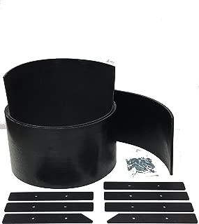 BOSS -- Heavy Duty Universal Snow Plow DEFLECTOR KIT (Rubber, 7 pc.Steel & Hardware) Replaces Boss Part #: MSC01565