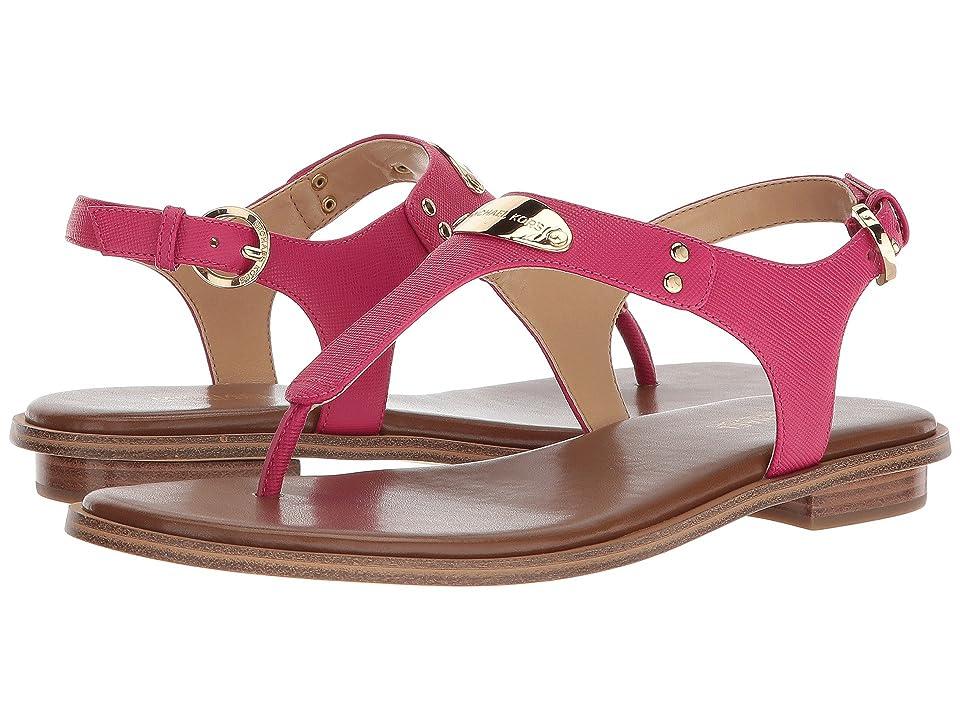 MICHAEL Michael Kors MK Plate Thong (Ultra Pink Saffiano) Women