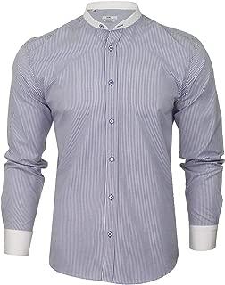 Xact Camicia da Uomo in Lino a Maniche Lunghe