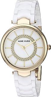 Anne Klein Women's Glitter Accented Ceramic Bracelet Watch